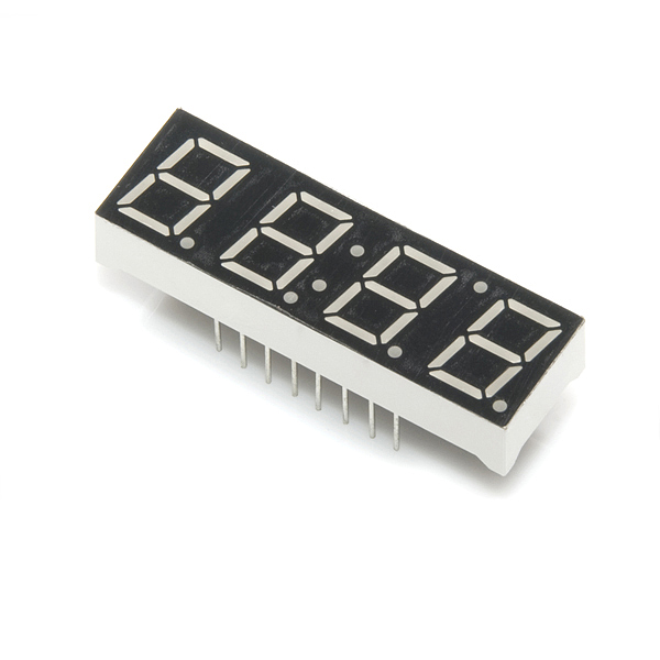 4-Digit 7-Segment Display - Yellow