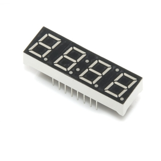 4-Digit 7-Segment Display - Kelly Green